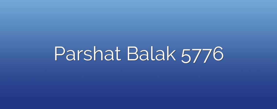 Parshat Balak 5776