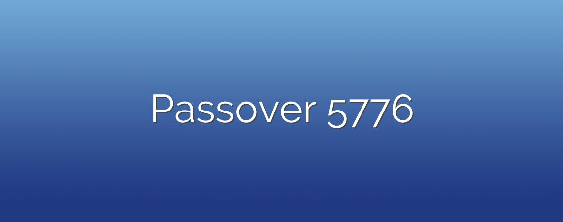 Passover 5776