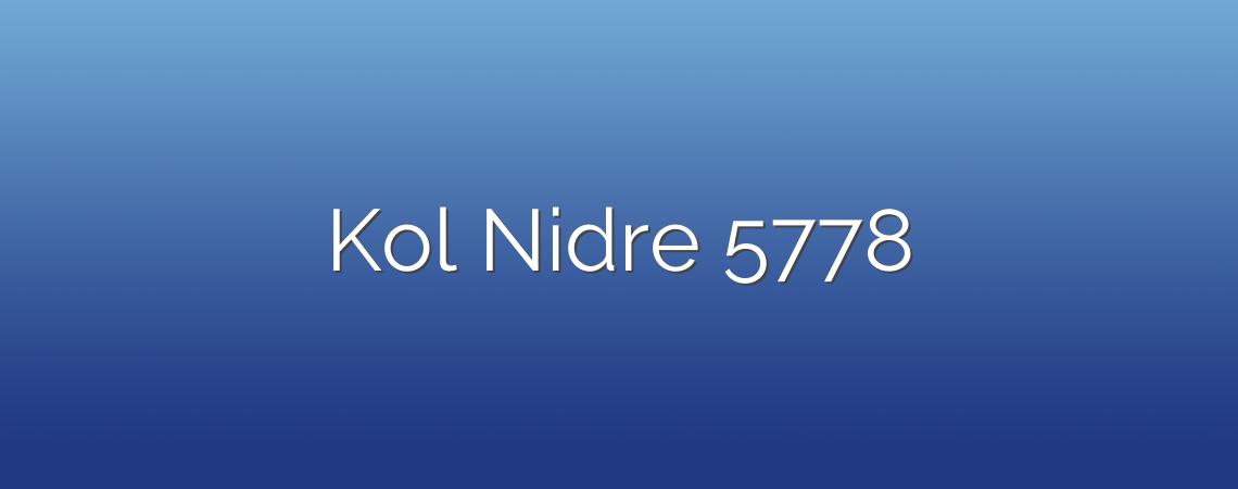 Kol Nidre 5778
