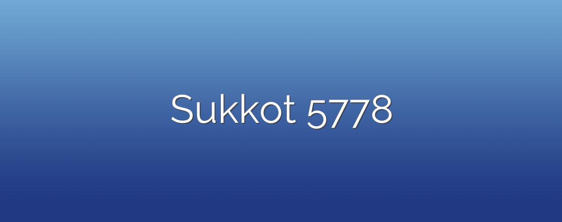 Sukkot 5778