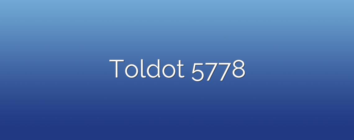 Toldot 5778