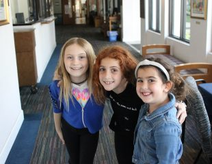 girls in hallway